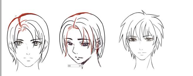 作业: 第一期第九节-男生日常发型绘制
