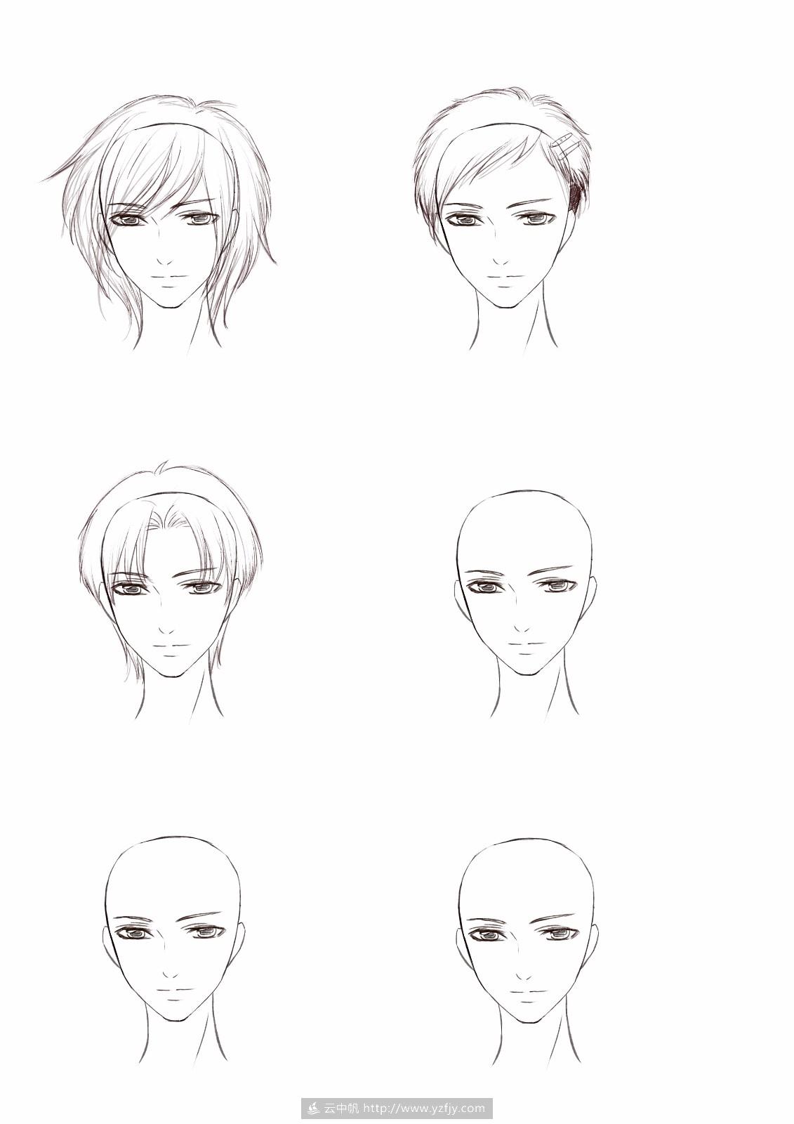 第九期第六节-男生日常发型绘制_漫画/q版绘画班_绘画图片